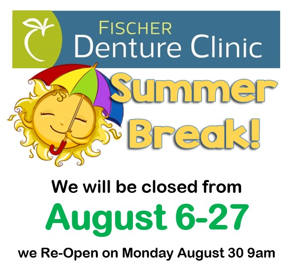 Clinic Closed for Summer Break – August 6 – 27, 2021